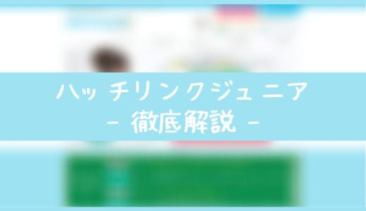 ハッチリンクジュニアの口コミ評判・料金・メリット・デメリット・使い方を解説!